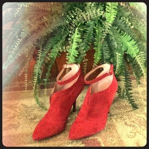 Enzo Angiolini Red Suede Pumps
